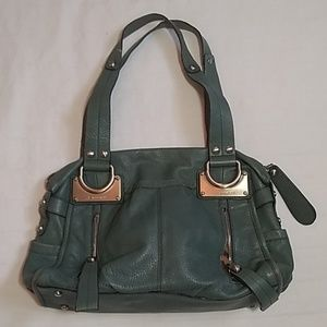 B.Makowsky Large Leather Handbag Purse